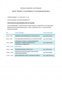 PROGRAM WORKSHOPU DOKTORANDOV-1